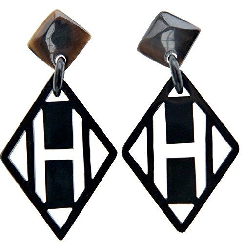 MaryCrafts Womens Fashion Handmade Buffalo Horn Drop Dangle Earrings ()