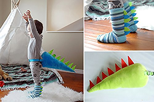 DINO TAILS AND SOCKS (Package (Socks and Green Tail))