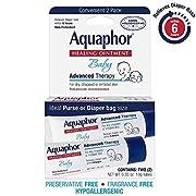Aquaphor Baby Healing Ointment Diaper Rash and Dry Skin Protectant, .35oz Dual Pack