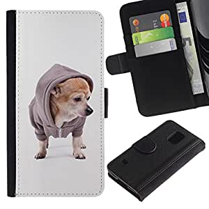 Stuss Case / Funda Carcasa PU de Cuero - Chihuahua Fashion Dog Style Puppy - Samsung Galaxy S5 V SM-G900