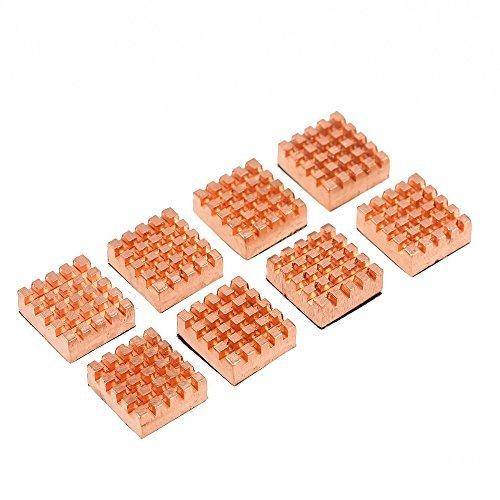 KKmoon Cooling Copper Heatsink Cooler for VGA GPU DDR DDR2 DDR3 DDR4 RAM Memory IC Chipset Cooling 8pcs/Set