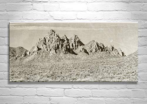 (Desert Landscape Photography, Arizona Mountain Picture, Panoramic Art Print )