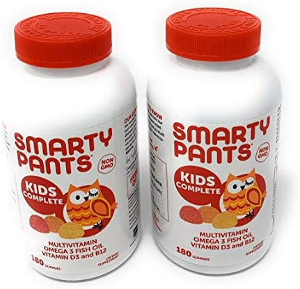 SmartyPants Children s All-in-One Multivitamin Plus Omega-3 Plus Vitamin D 2 pack 180ct total 360ct