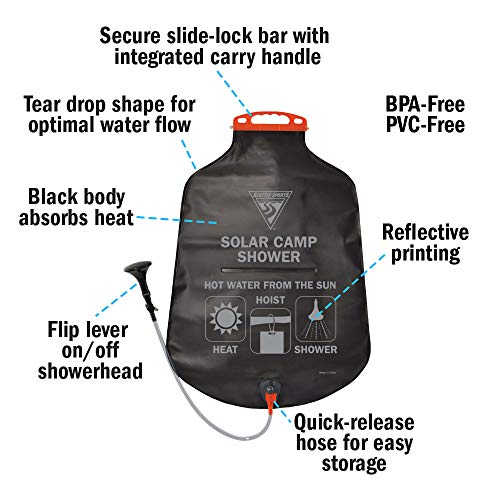 Seattle Sports PVC Solar Showers, 5-Gallon