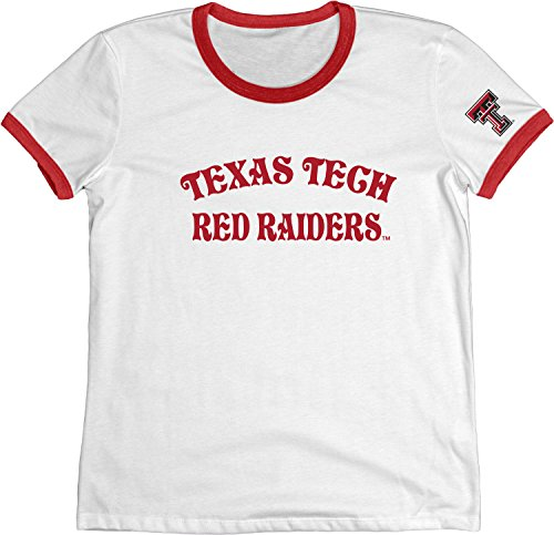 - Blue 84 NCAA Texas Tech Red Raiders Adult Women NCAA Women's Vintage Supima Ringer Tee,Medium,Red