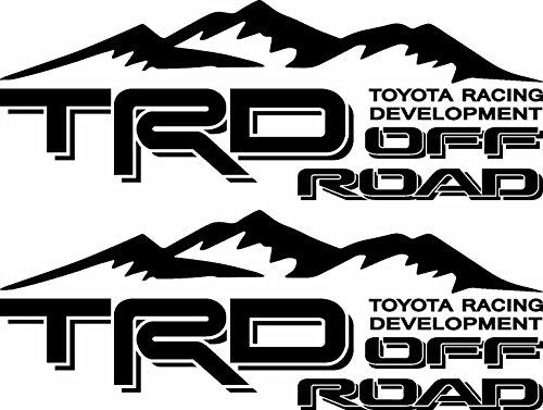 EZ CUT PRO 2X TRD OFF ROAD 4X4 TOYOTA RACING DEVELOPMENT TACOMA TUNDRA TRUCK DECAL STICKER