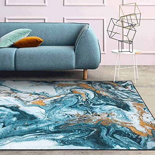 XXW Modern Creative Oil Painting Hairless Living Room Carpet Home Sofa Coffee Table Mat