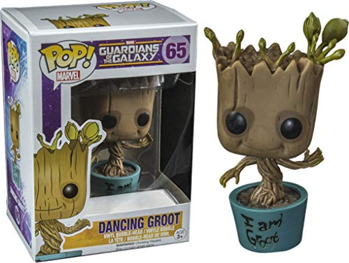 Funko 5253 - Guardianes de la Galaxia Pop Vinyl Figure 65 Dancing Groot IM Groot (10 cm)
