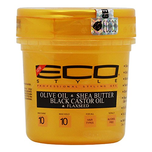 Eco Style Gold - Olive Oil, Shea Butter and Black Castor & Flaxseed Oil Gel 8oz