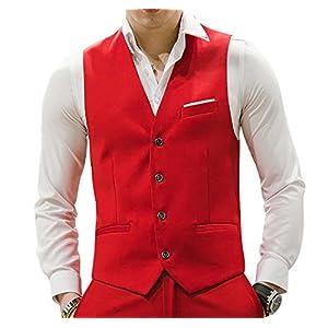 MOGU Mens Waistcoat Causal Suit Vests 10 Colors