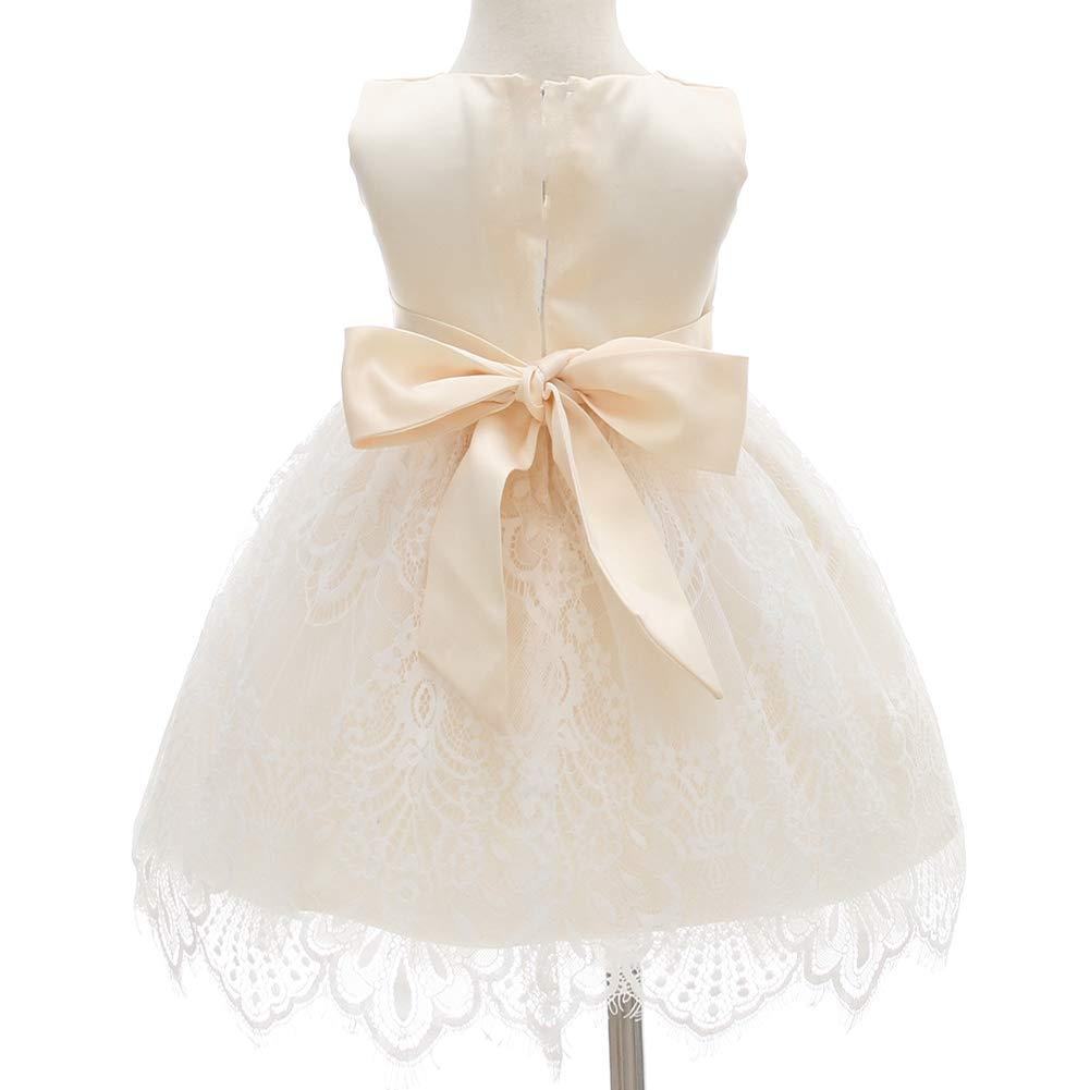 Monimo Baby Girl Dress Round Collar Flower Girl Princess Dress for Party