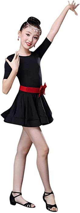 1e67e597244c Amazon.com  Vacally 3 Colors Kids Girls Latin Ballet Dress Party ...