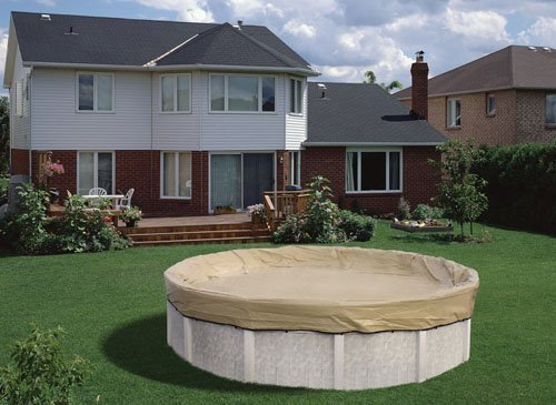 Winter Pool Cover Armorkote Oval (12'x24' Oval HPI ARMORKOTE Above Ground Swimming Pool Winter Cover-20 YR Warranty by HPI)