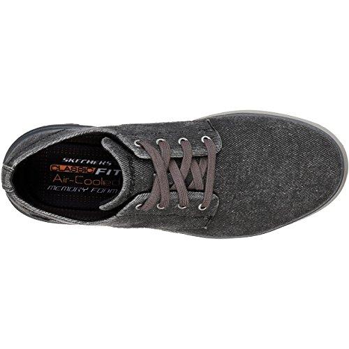 Skechers Mens Folten-Brisor Canvas Shoes Black