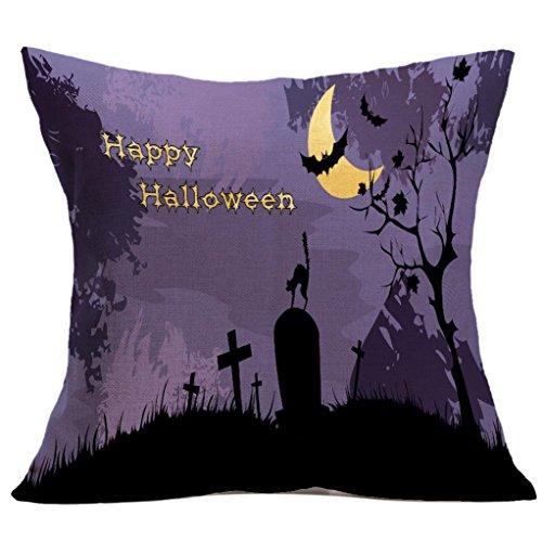 Gotd Halloween Pillows Cover Decorations Decor Halloween Throw Pillow Case Sofa Waist Throw Cushion Cover Home Decor Square 45 x 45cm 18 x 18inch (Halloween 30th Anniversary Box Set Blu Ray)