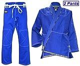 Ring to Cage ULTIMA Brazilian Jiu Jitsu Gi with 2 Pairs of Pants – Blue (A2) Review