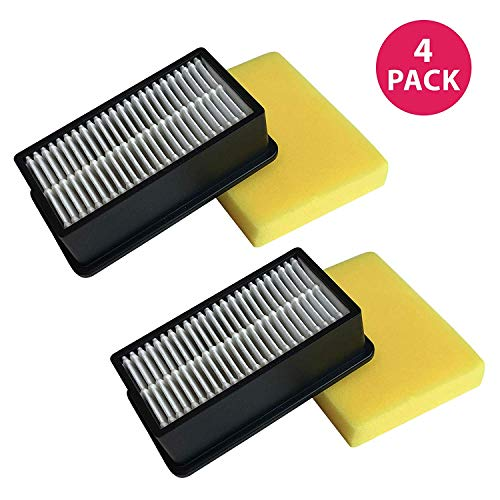 ement Filter Kit - Compatible with Bissell Vacuums Pre- and Post-Motor Air Filters Kit For Vacuum Models 2410, 3918, 9595, Parts #2032663 203-2663 2032662 203-2662 -Bulk (4 Pack) ()