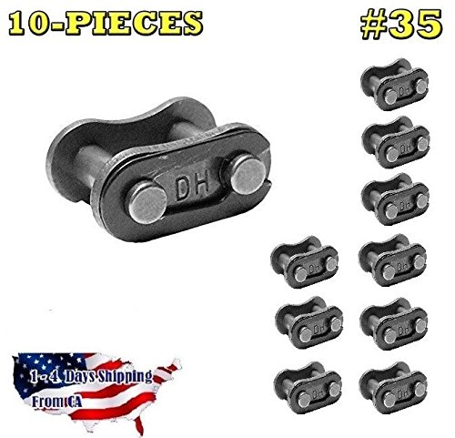 Roller Chain Connecting Links - 35 Standard Roller Chain Connecting Links (10PCS)