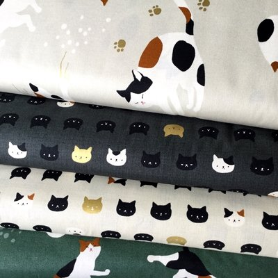 Gato de tela, diseño de gatos, color gris metálico dorado - 4 - Retal de tela qgfb01: Amazon.es: Hogar
