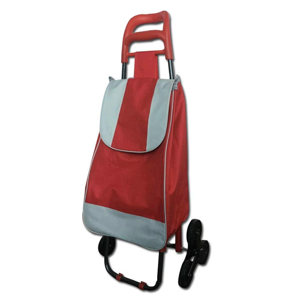 多機能トロリー折り畳みショッピングカート (色、野菜を購入する老人 :、階段を登る B07K9MQ1NQ、ショッピングカート、小型カート (色 : Red) B07K9MQ1NQ Red, ハナゾノムラ:4102198a --- anime-portal.club