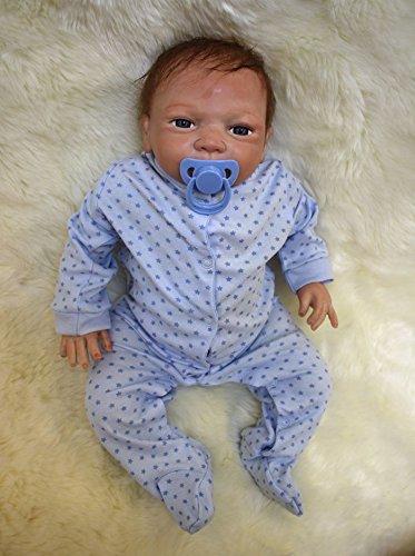 "Reborn doll 46cm/18"" Handmade Reborn Baby Doll Girl Newborn Lifelike Soft Vinyl silicone"