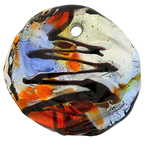 Glass Pendant Murano Orange (GlassOfVenice Murano Glass Ardito Modern Art Pendant)
