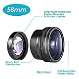 Neewer Photography 58mm AF 0.21X Wide Angle + Fish-eye Lens for Canon Nikon Sony Pentax Olympus and Other DSLR Camera Lens with 58mm Filter Thread