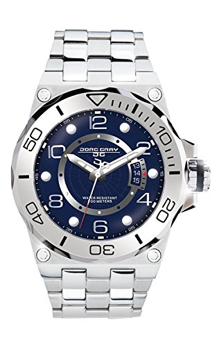 Jorg Gray JG9600-14 Round Watch with Solid Stainless Steel Bracelet with Safety Clasp (Jorg Gray Watch)