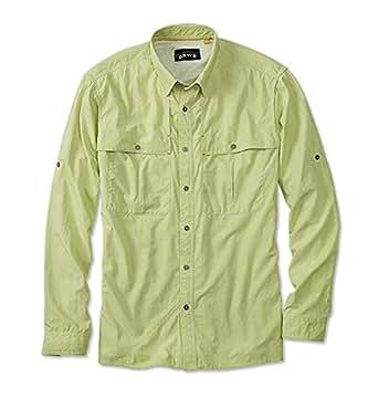 Orvis Long-Sleeved Regular Open-Air Caster Shirt (M(38-40), LEMON LIME)