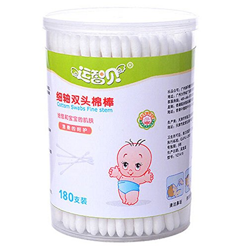 Lusee® 180 Pcs Baby Safety Cotton Buds Sicherheitswattestäbchen Wattestäbchen Pflegestäbchen