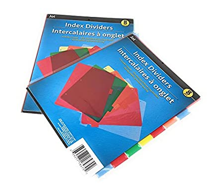 amazon com 16 sturdy index dividers for 3 ring binders includes