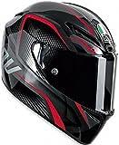 AGV GT-Veloce TXT Full Face Motorcycle Helmet (Black/Red, X-Large)