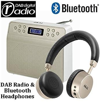 dynamx Digital DAB Radio + Bluetooth auriculares – DAB Radio – Radio FM – Pantalla LCD