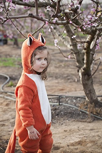 Fox baby and kids costume. One piece children's costume for boy and girl | Toddler fox costume for Halloween 2017 -