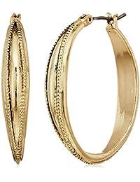 Napier Gold-Tone Large Hoop Earrings