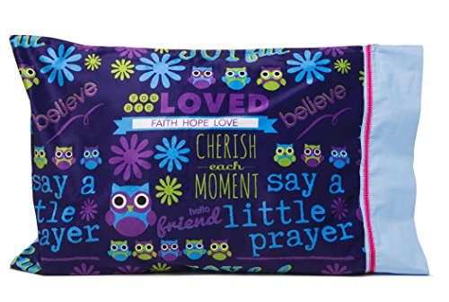 Flipside Pillow Perfect Get Well, Christian or Religious Gifts for kids - Personalize your SAY A LITTLE PRAYER PILLOWCASE - Spiritual gifts for kids - Write your message of love and encouragement by Flipside Pillow