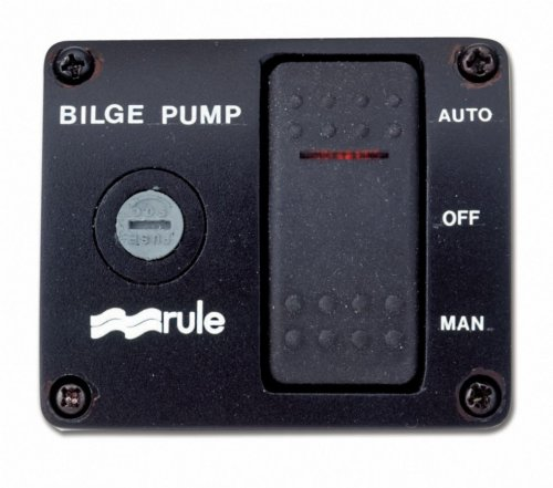 Rule 43 Marine Deluxe Plastic Rocker Panel Switch (12-Volt) (3 Way Rule)