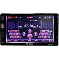 Absolute USA DD-4000 7-Inch Double Din Multimedia DVD Player Receiver with Touch Screen System Display and Detachable Front Panel SD/USB Slot