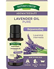 Nature's Truth Essential Oil - 100percent Pure Lavender Oil Lavandula Intermedia Pure and Plant-Based Massage Oil, Aromatherapy or For Bath/Shower 15 ml.
