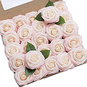 Ling's moment Artificial Gardenia Flowers w/Stem for DIY Wedding Bouquets Centerpieces Arrangements Party Baby Shower Home Decorations 3