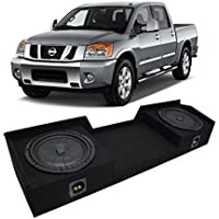 Fits 2004-2015 Nissan Titan King or Crew Truck Kicker CompVT CVT12 Dual 12 Sub Box Enclosure - Final 2 Ohm