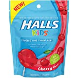 #3: Halls Kids Pops Cough and Sore Throat Cherry, 10 ct