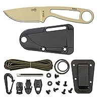 ESEE Desert Tan Izula cuchillo con kit de supervivencia