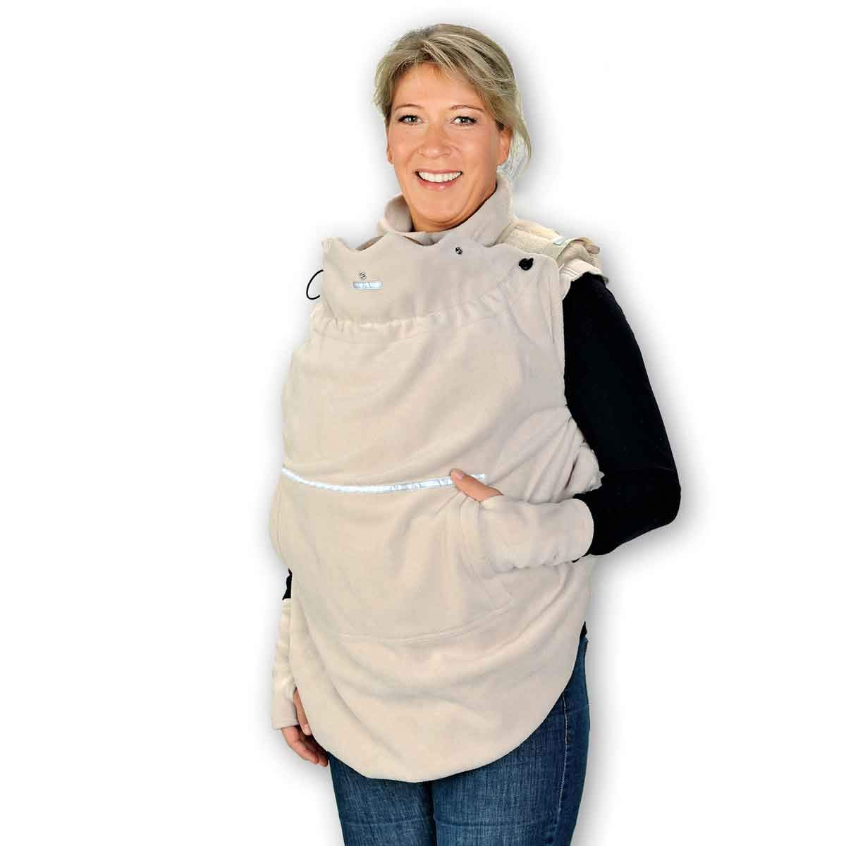 Sand w/ärmendes Tragecover f/ür Tragehilfen mit Regenschutz HOPPEDIZ Fleece-Cover 3in1