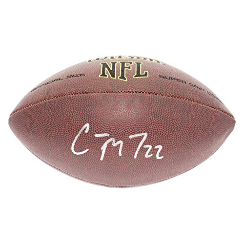 Christian McCaffrey Autographed Signed NFL Supergrip Football - JSA Authentic