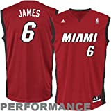 NBA Men's Miami Heat Lebron James Revolution 30 Alternate Replica Jersey H Size (Garnet, XXX-Large)