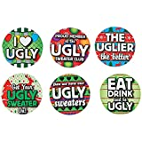 FE/OTC Christmas Party Ugly Sweater Contest Award Buttons Gag Gift 12 pc. Set
