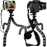 Strong Flexible Tripod for Compact Cameras (up to 2.20lb/1kg) - Grey - KSD-FT29