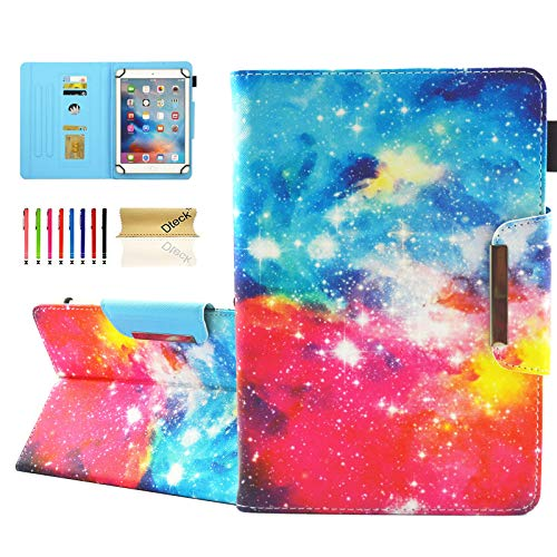 Dteck Universal Case for 9.5-10.5 Inch Tablet - PU Leather Stand Wallet Case Cover for Apple iPad/Samsung Tab/Kindle Fire/Lenovo/Huawei MediaPad/Asus Zenpad 9.7 10 10.1 10.5 Inch Tablet-Starry Sky
