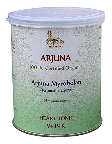 arjuna capsules (usda certified organic) - 108 vcaps